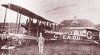 Photo of the first overseas aircraft which landed in Singapore in 1919.