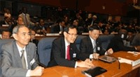 Photo of Singapore officials at International Civil Aviation Organization (ICAO).