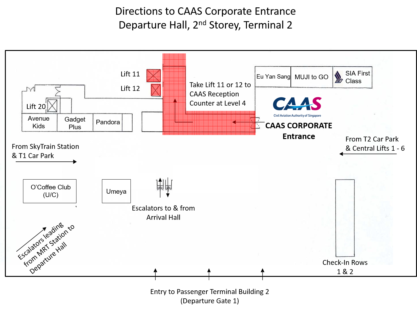 Location map of CAAS office
