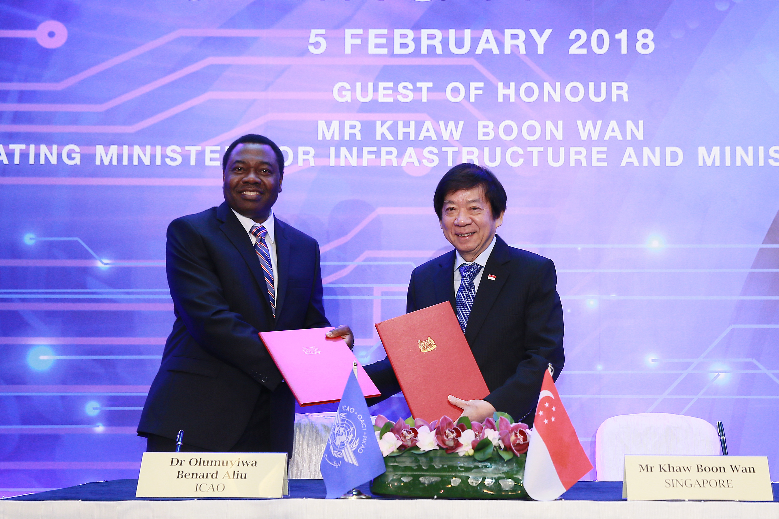 SG-ICAO MOU signing