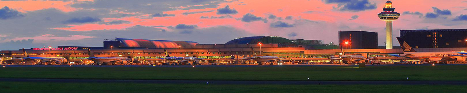 Photo of Changi Airport at sunset