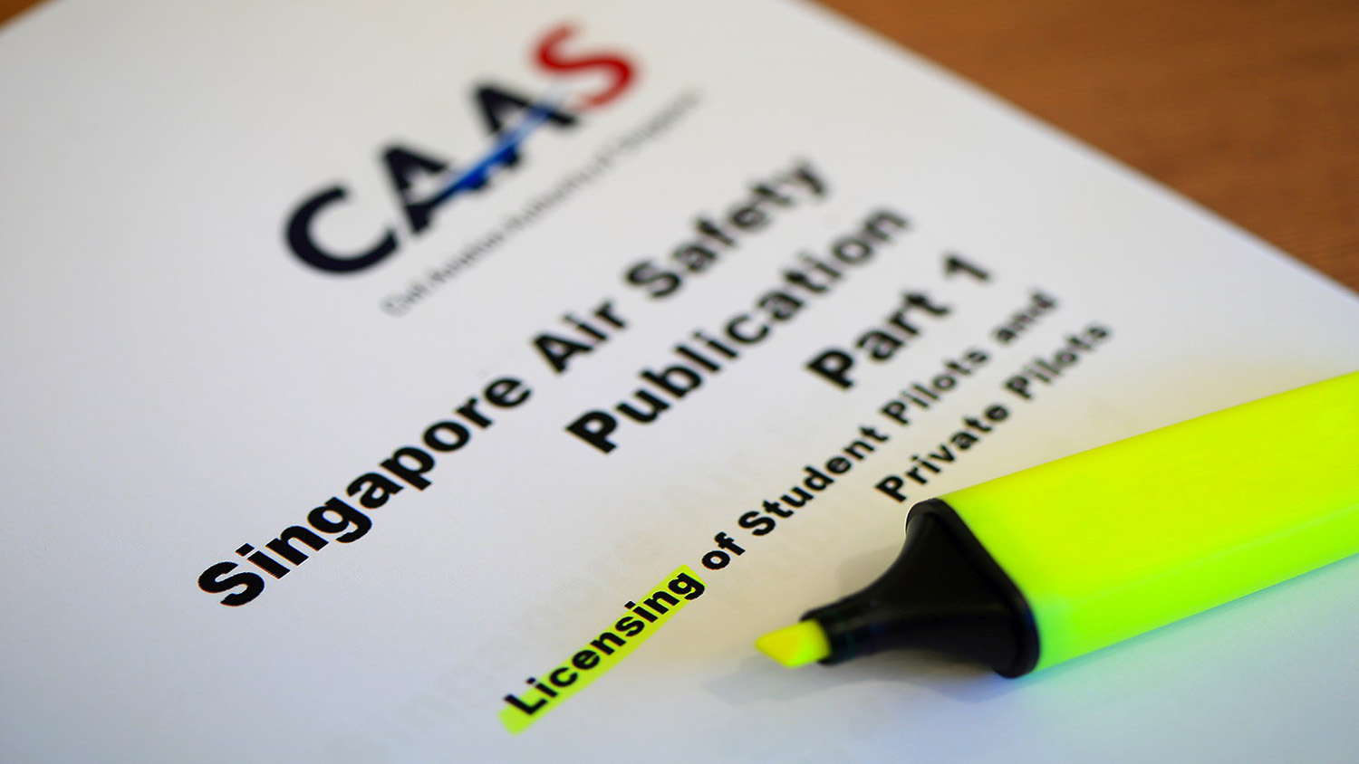 Photo of one of CAAS' safety publication.