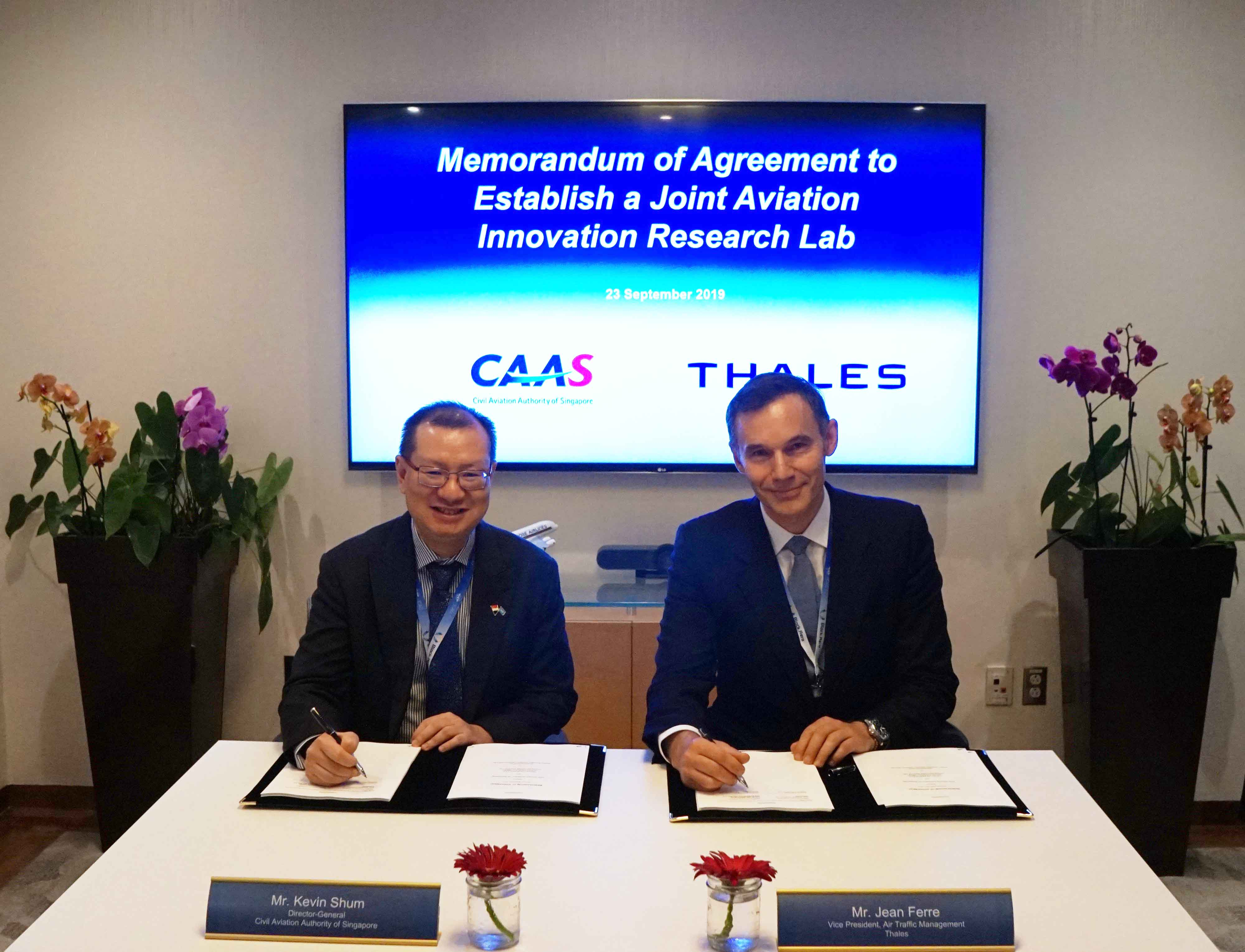 CAAS and Thales establish Joint Aviation Innovation Research Lab