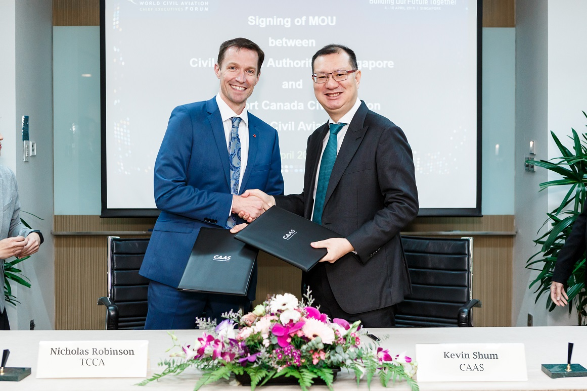 The Civil Aviation Authority of Singapore and Transport Canada Civil Aviation Collaborate to Enhance Aviation Safety